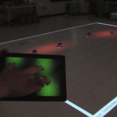 smart device control of robot swarms