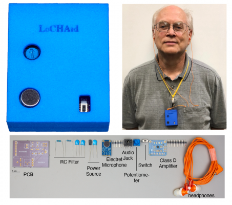 LoCHAid: An Ultra-Low-Cost and Self-Fitting Hearing Aid