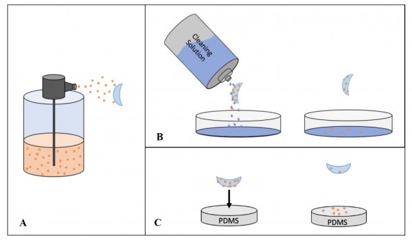 Polymer-Based Removal of Pollutants from Contact Lenses